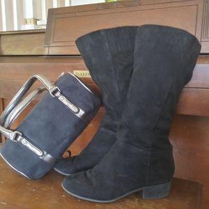 Faux Suede Victoria's Secret Satchel AND Boots!
